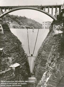 Chute de Sautet, Grand barrage